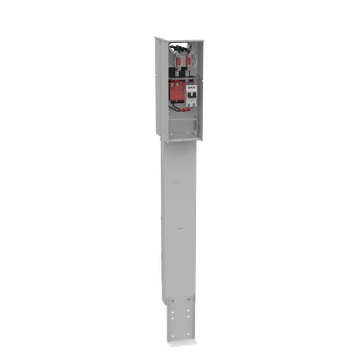 4 Terminal Ringless Plain Top 2-200 Ampere Main Breaker Double Pedestal Direct Bury Florida Meter Group