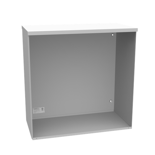 24X12x24 Screw Cover Type 3R UL Listed Steel No Knockouts ANSI 61 Gray Quad D Knockout For Lock Emboss Mounting Holes In Back