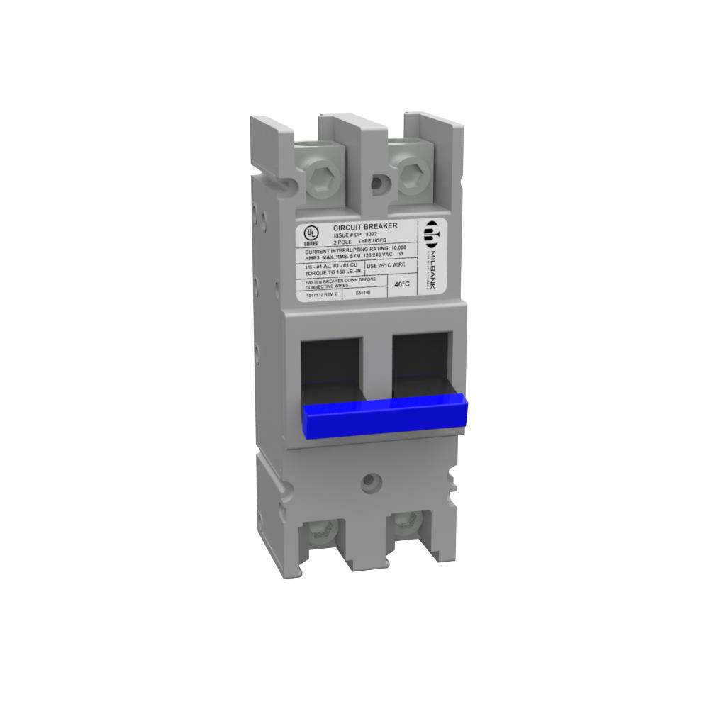 Milbank UQFBH-200 200 Amp 22 kaic 2-Pole Bolt-On Circuit Breaker