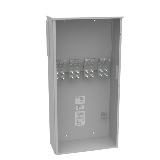 800 Ampere 3 Phase 600 Volt 24in-48in-11in Painted Steel Lift Off Screw Front .5-13 Studs 3 Lugs Per Landing 4-600kcmil 10k Ampere Interrupting Capacity