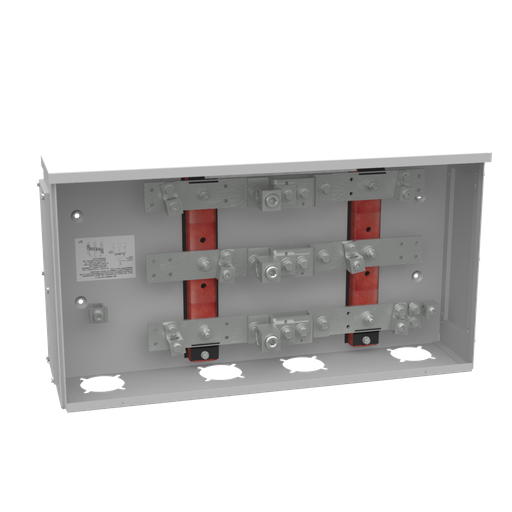 400 Ampere 1phase 600 Volt 28in-15in-6in Painted Steel Lift Off Screw Front 1 Lug Per Landing - 4-600kcmil 2 Lugs Per Landing - 6-250kcmil 42k Ampere Interrupting Capacity t