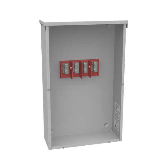 200 Ampere 3 Phase 600 Volt 16in-26in-6in Painted Steel Lift Off Screw Front 1 Lugs Per Landing - 6-250kcmil 1 Lug Per Landing - 6-250kcmil 10k Ampere Interrupting Capacity