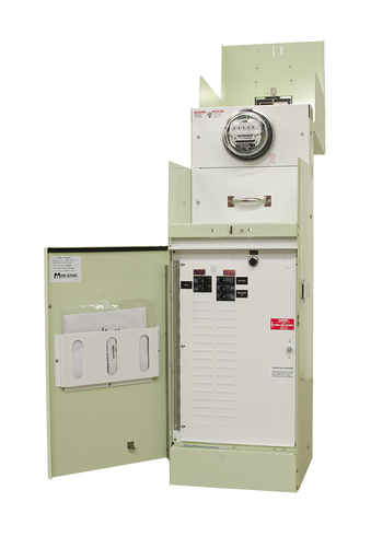 Ring Type 100 Amperes 240 Volt 4 Terminal Main Circuit-breaker 2-16 Circuit Loadcenter 22k Switch Load Mint Green
