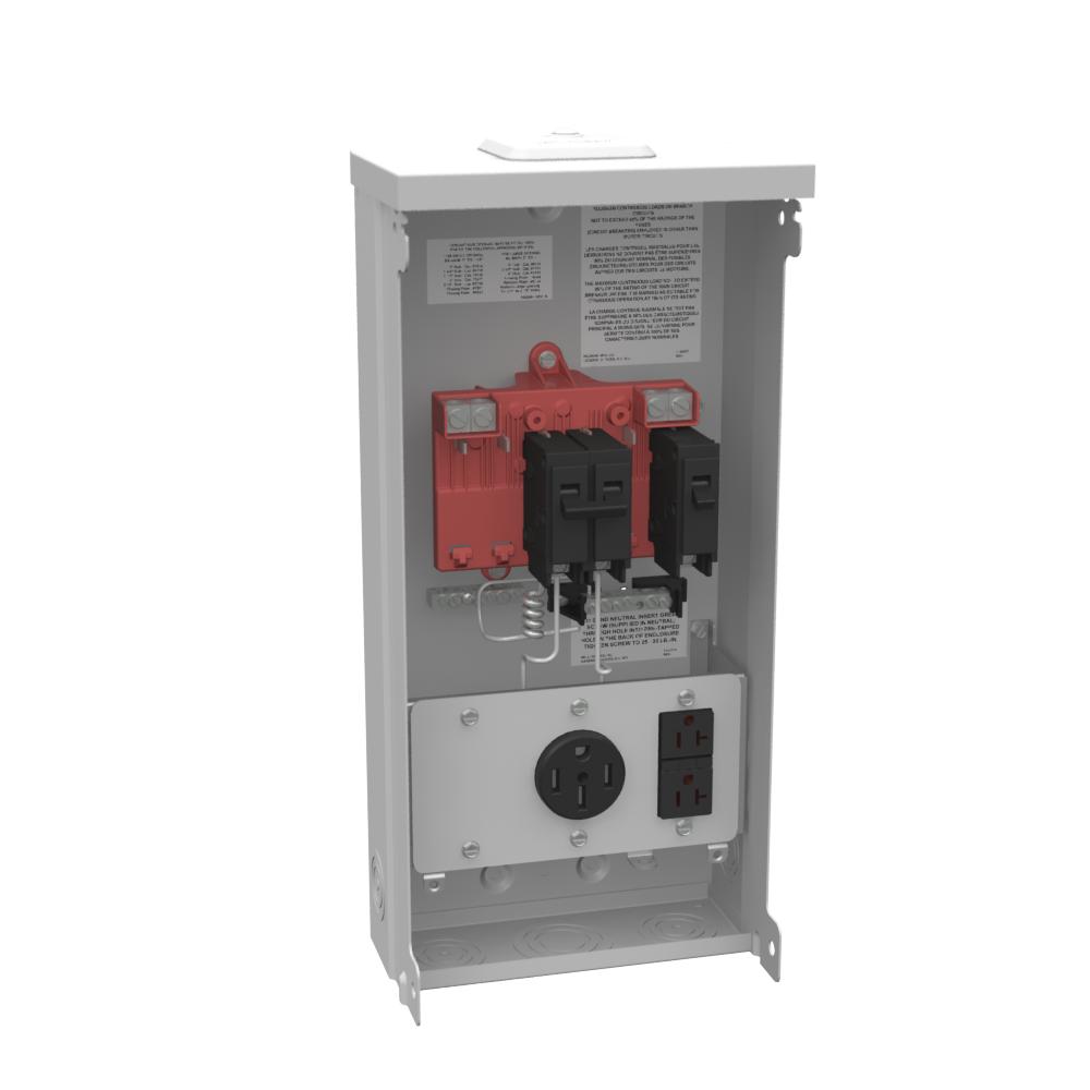Milbank U5000-XL-55GBGR 240 Volt 125 Amp NEMA 3R 1-Phase 14 to 2/0 AWG G90 Galvanized Steel Unmetered Power Supply Unit
