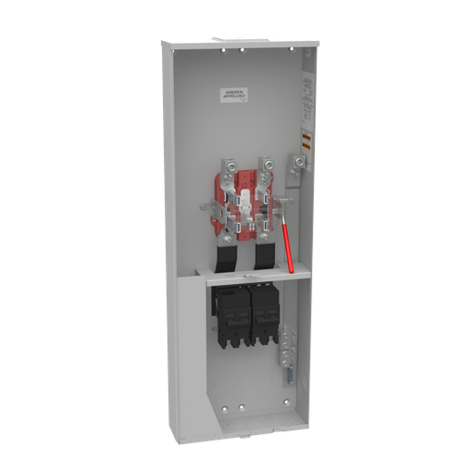 5 Terminal Ringless Large Closing Plate Lever Bypass 2-200 Ampere Main Breaker Single Connector 4-600kcmil Ameren