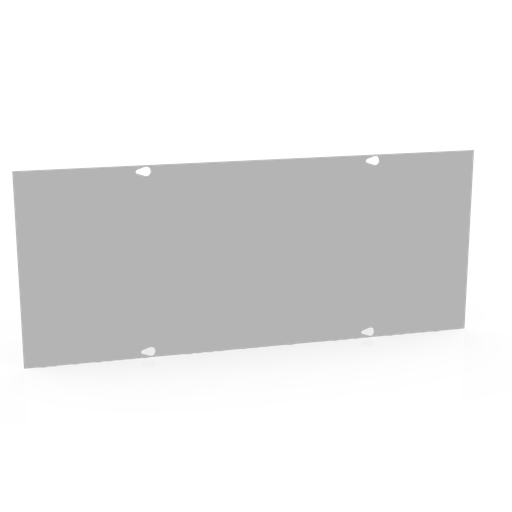 Wireway Cover Non-UL Listed 10x24 Screw Cover ANSI 61 Gray Steel