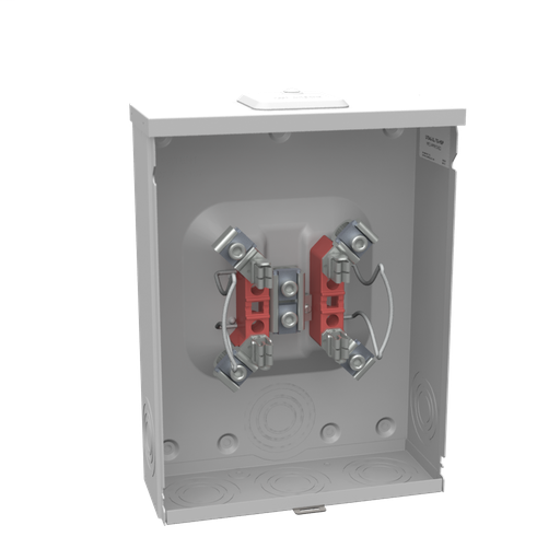 Mayer-4 Terminal Ringless Small Closing Plate Triplex Ground Stainless Steel Hasp Aluminum Painted-1