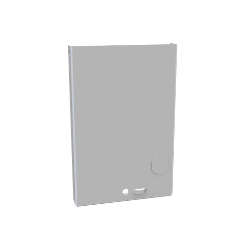 Front Cover Type 3R Non-UL Listed 4X6 Screw Cover ANSI 61 Gray Steel