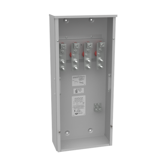 400 Ampere 3 Phase 600 Volt 16in-36in-7in Painted Steel No Knockouts Lift Off Screw Front .5-13 Studs 1 Lug Per Landing - 4-600kcmil 10k Ampere Interrupting Capacity