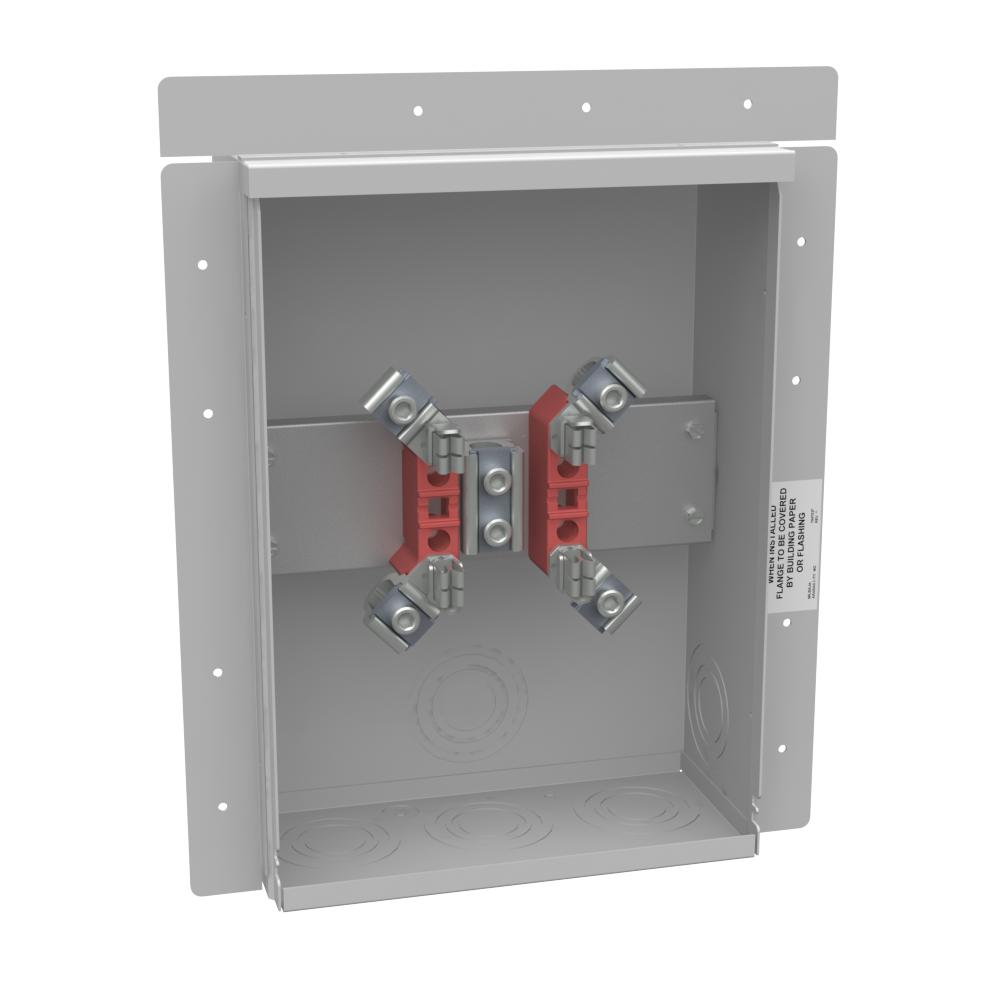 Milbank 21017 UF4518-KO 600 VAC 1-Phase 200 Amp 4-Terminal Ringless Meter Socket
