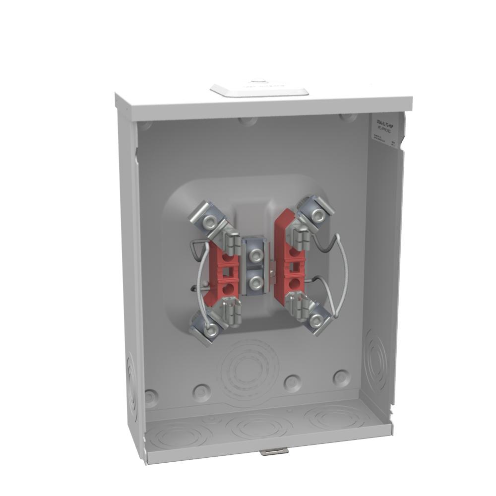 Milbank U7040-XL-TG-HSP 600 VAC 200 Amp 4-Terminal 1-Phase 1-Position Ringless Overhead/Underground Meter Socket