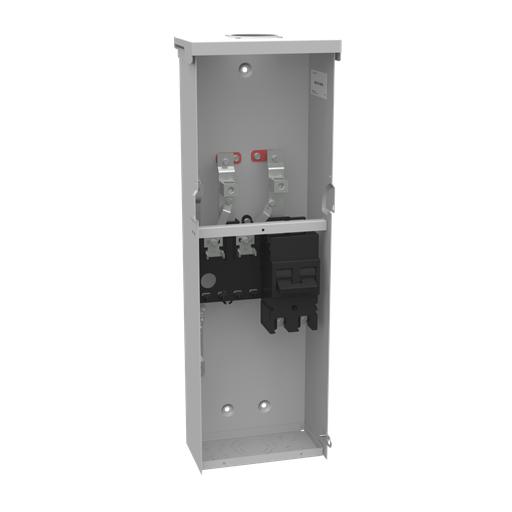Unmetered Small Hub Open 1-200 Ampere Breaker 4 Branch Circuit