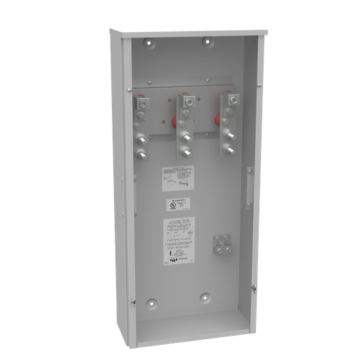 400 Ampere 1phase 600 Volt 16in-36in-7in Painted Steel No Knockouts Lift Off Screw Front .5-13 Studs 1 Lug Per Landing - 4-600kcmil 10k Ampere Interrupting Capacity