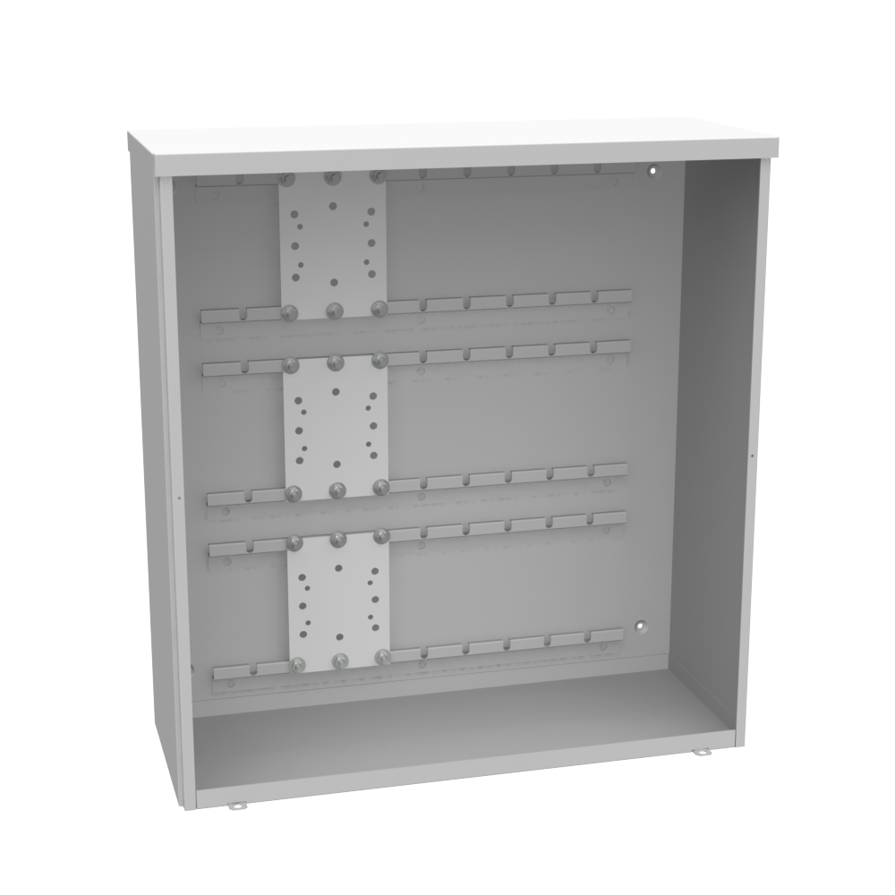 MILBANK 34X12x32 Screw Cover Type 3R UL Listed Aluminum No Paint No Knockouts Padlocking Provision Rack Installed Lifting Tabs