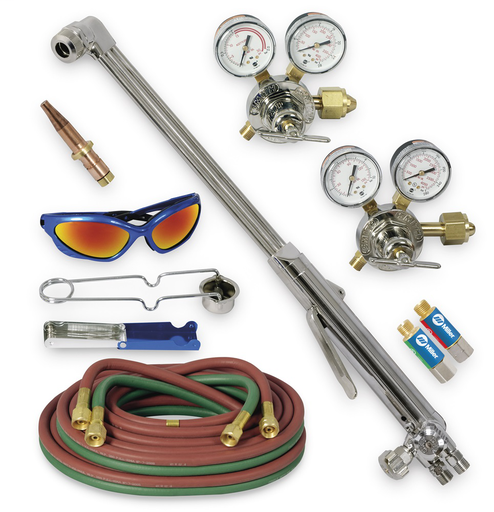 Heavy Duty Hand Cutting Torch Outfit with Acetylene Tips,CGA 300