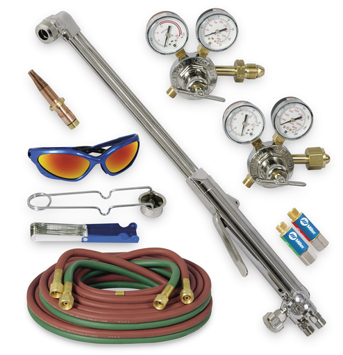 Heavy Duty Hand Cutting Torch Outfit with Acetylene Tips, CGA 510