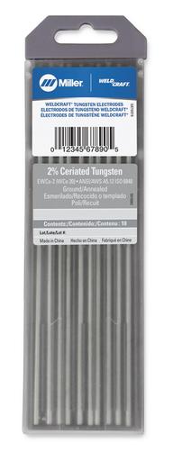 """Weldcraft™ Tungsten, 2% Ceriated, 1/8"""" x 7"""" (3.2 mm. x 175 mm.)"""