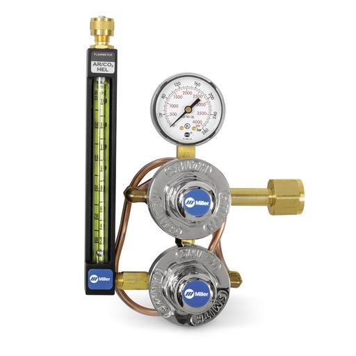 CO2 flowmeter regulator w/heat exchanger