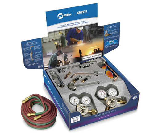 Medium Duty Combination Torch Outfit with Acetylene/Propane Tips, CGA 510