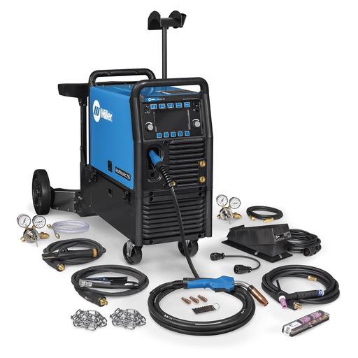 Multimatic® 255 Multiprocess Welder w/ EZ-Latch™ Dual Cylinder Running Gear & TIG Kit - 208-575V