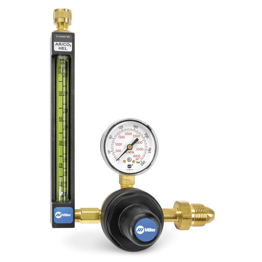Argon/CO2/Helium flowmeter regulator, 30 PSIG