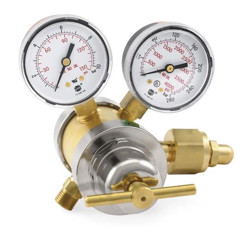 Two stage oxygen regulator, 0-125 PSIG