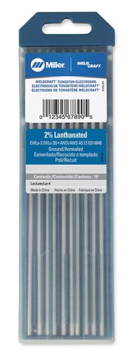 """Weldcraft™ 2% Lanthanated Tungsten 3/32"""" x 7"""" (2.4 mm. X 175 mm.)"""