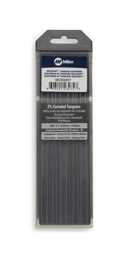 """Weldcraft™ Tungsten, 2% Ceriated, 5/32"""" x 7"""" (4.0 mm. X 175 mm.)"""