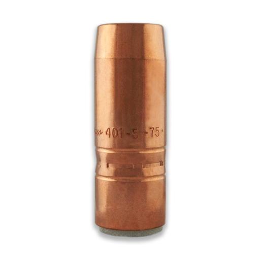 """TOUGH LOCK™ Heavy Duty Slip-On Nozzle, 3/4"""" Bore, 1/4"""" Recess, Short Taper, Copper (10 per pkg)"""