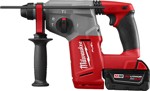 "Milwaukee 2712-22DE M18 FUEL 1"" SDS PLUS ROTARY HAMMER KIT W/HAMMERVACT KIT"