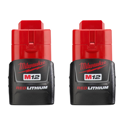Milwaukee 48-11-2411 M12 12v RedLithium Compact Battery (Two Pack)