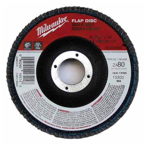 MIL 48-80-8000 FLAP DISC 4-1/2 X 7