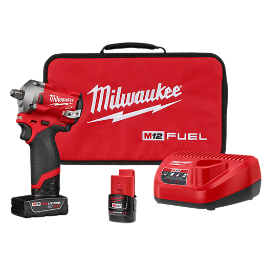"MILWAUKEE M12 FUEL Stubby 1/2"" Impact Wrench Kit"