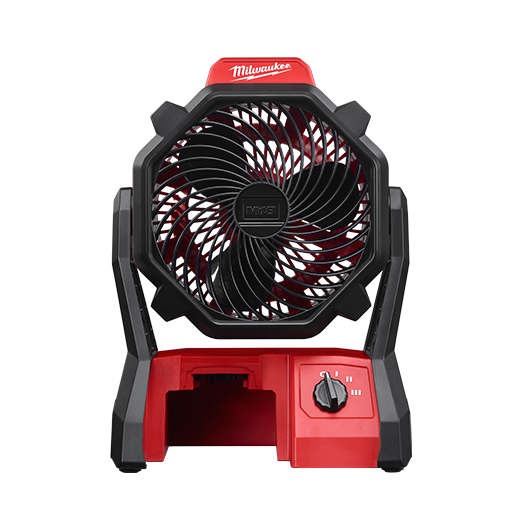 Milwaukee® 0886-20 Cordless Jobsite Fan, 18 VDC, 3 Speeds, 284 cfm Air Flow