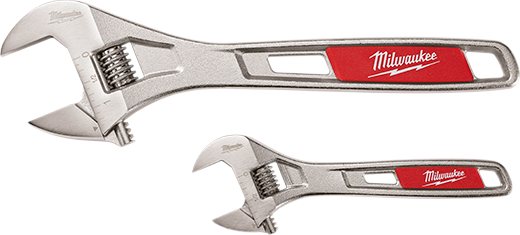 Milwaukee® 48-22-7400 Adjustable Wrench Set, 2 Pieces, 6 in, 10 in, Polished Chrome