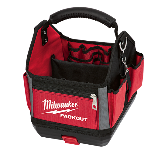 Milwaukee® PACKOUT™ 48-22-8310 Tote, 1680D Ballistic Nylon, Black/Red
