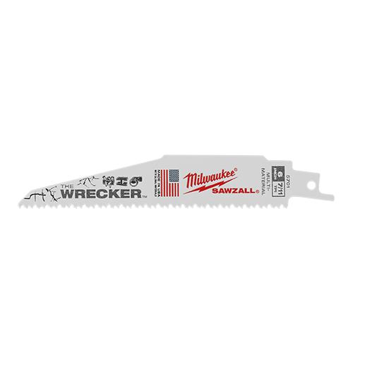 Milwaukee Tool 48-00-5701 6 Inch 8 TPI Wrecker Super Sawzall Blade