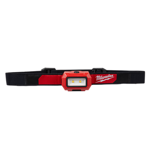Milwaukee 2103 Headlamp w/ (3) AAA Batteries & (4) Hard Hat Clips, 300 Lumens High Definition Output, 31 Hours Runtime, Washable, Compact, Lightweight, Sweat Absorbing Strap, Water, Dust, Drop Resistant Body