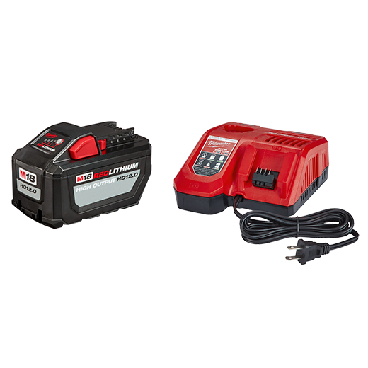 MILWAUKEE M18 REDLITHIUM™ HIGH OUTPUT™ HD12.0 Battery Pack w/ Rapid Charger
