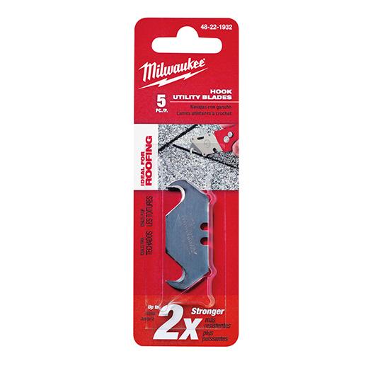 MILWAUKEE 5 PC Hook Utility Knife Blades