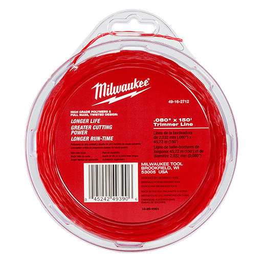 "MILWAUKEE .080"" x 150' Trimmer Line"
