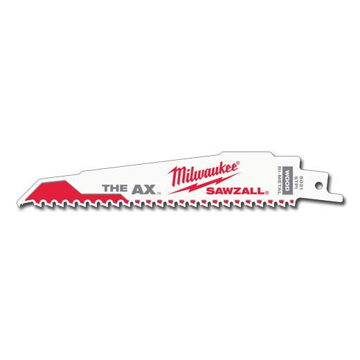 Milwaukee Tool 48-00-5021 6 Inch 5 TPI Ax Super Sawzall Blade