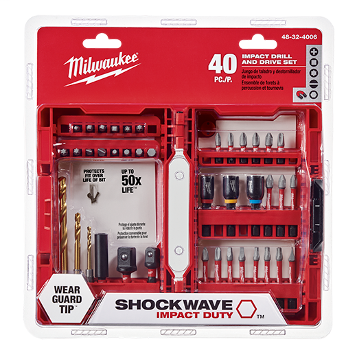 MILWAUKEE SHOCKWAVE™ Impact Duty Drill & Drive Set - 40PC