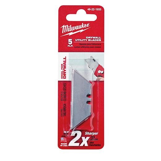 MILWAUKEE 5 PC Drywall Utility Knife Blades