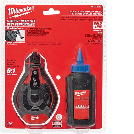 MILWAUKEE 100' Bold Line Kit w/ Blue Chalk