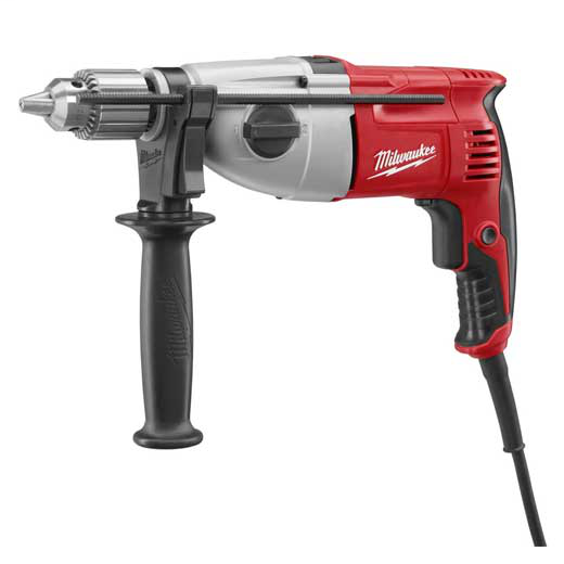 Mayer-1/2 in. Pistol Grip Dual Torque Hammer Drill, 0-1350/0-2500 RPM with Case-1
