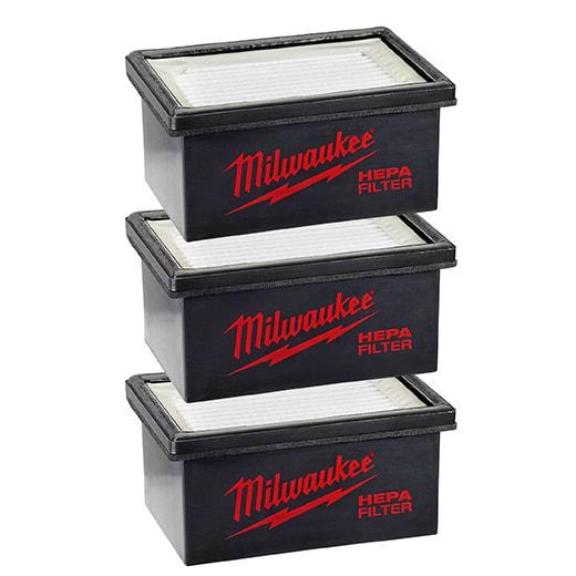 Milwaukee 49-90-2306 M12 HAMMERVAC 3 pack Filters