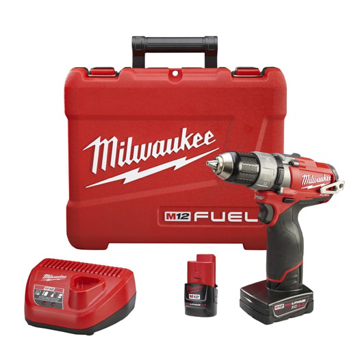 Milwaukee Tool 2403-22 1 and 2 12 Volt Drill and Driver Kit
