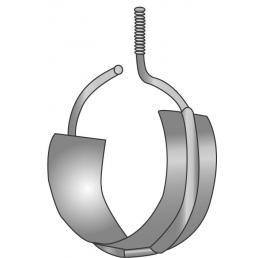 Minerallac 654RS 4 Inch Diameter Zinc Plated Steel Beam Clamp Bridle Ring with Saddle