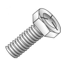 Minerallac 55417J 3/8-16 x 1 Inch Zinc Plated Grade 5 Steel Hex Head Cap Screw
